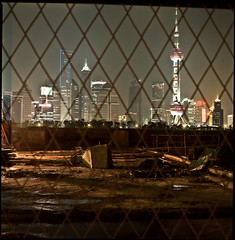 their view of shanghai (shanghaisoundbites) Tags: world urban tower night zeiss view shanghai shot expo hasselblad prison carl worker pearl pudong provia jinmao 80mm puxi hongkou cbdb gettyimageschinaq1