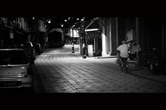 China Town Street [Night Series] (fuadabd) Tags: street blackandwhite bw night canon 50mm lowlight chinatown terengganu