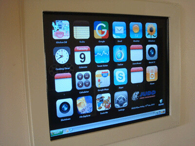 The iPhone DIY Kitchen Touch Screen Project