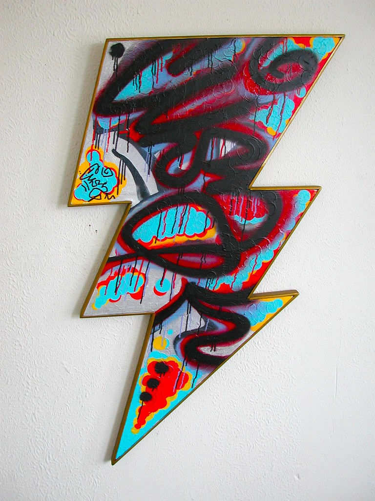 Graffiti art sale - Cuss Stm Original Painting For Sale