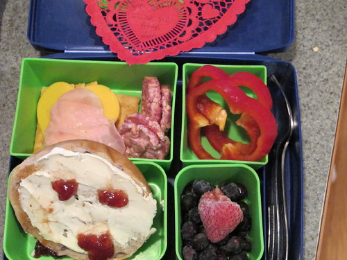 The valentine lunch bento 2-11-10
