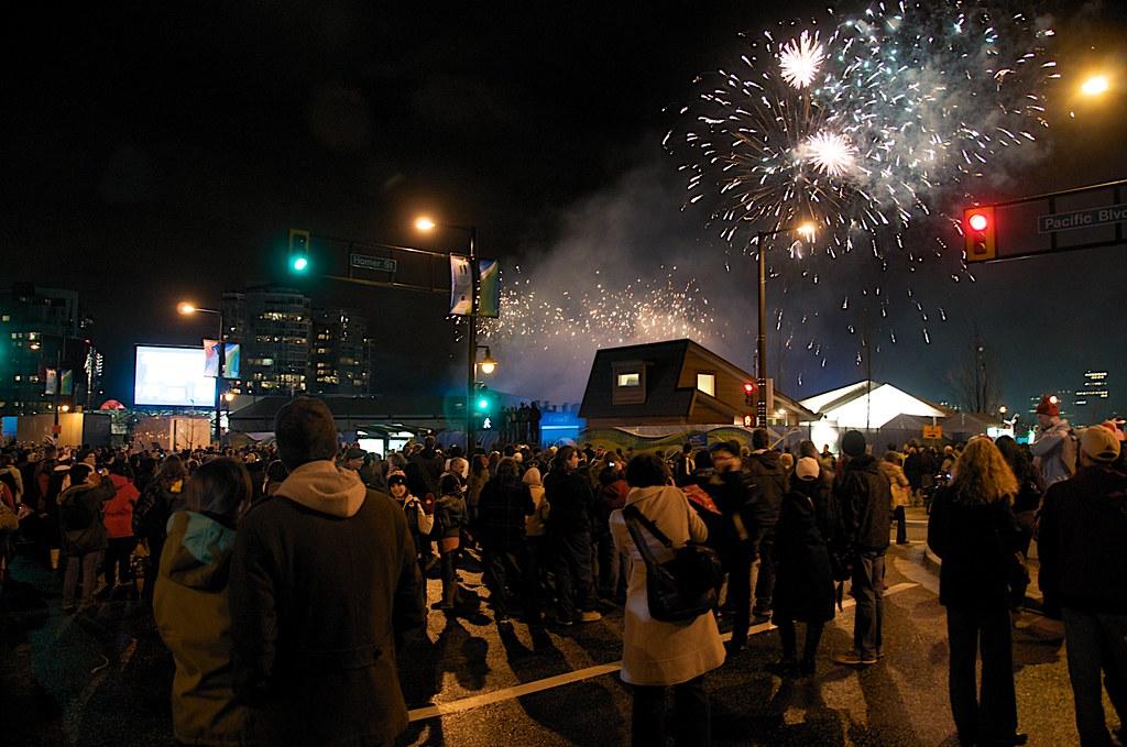 Fireworks Over David Lam Park