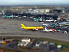 Dublin Airport Ireland (Benn Gunn Baker) Tags: ireland dublin yellow plane airport baker shift olympus terminal landing tnt tilt runway benn gunn dhl e410