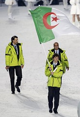 OLYMPICS-OPENING/ ALGERIA FLAG (menosultra) Tags: winter canada game cup vancouver algeria football team bc african soccer egypt can mai national algerie coupe algrie karim 2010 angola afrique   socer ziani  lquipe    algrienne    matmour yebda haliche reldbmlr1e62d08iauq