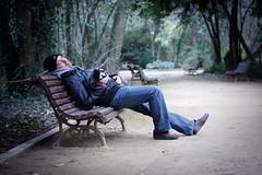 """Fotgrafo de """"naturaleza"""", un oficio duro. (Leandro MA) Tags: espaa spain banco valladolid campogrande castillaylen haciendoclack leandroma"""