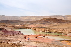 desert lake (asafros) Tags: lake water pool israel colorful desert flood crater negev ramon sands   machtesh