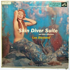 Skin Diver Suite... (Sea Moon) Tags: strange underwater coverart scuba diving cheesecake snorkeling orchestra record collectible mermaid harmonica rarity skindiving leodiamond