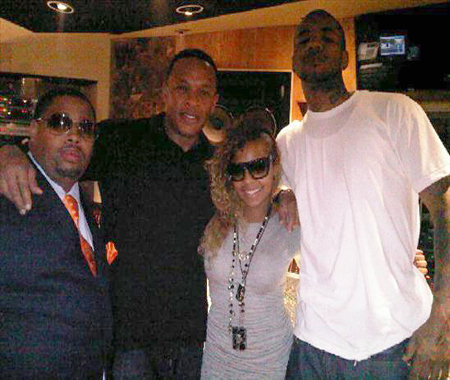 THE GAME ASHANTI AND DR DRE IN THE STUDIO