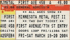 03/19&20/04 MN MetalFest II @ Minneapolis, MN (Ticket)