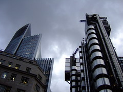 The Lloyd's Building and companion. (mystroh) Tags: building london 2009 lloyds