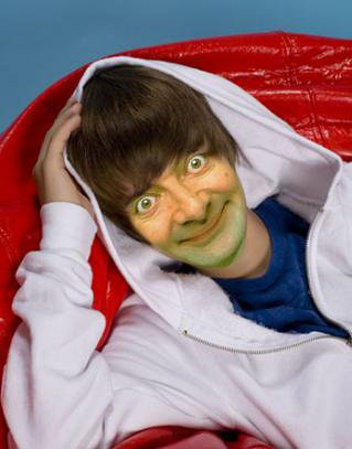 justin bieber ugly face. If mr bean was justin bieber.