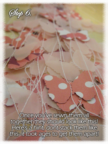 Step 6 (Tutorial- How to make a Chandelier Style Butterfly Mobile)