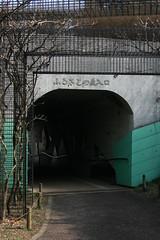 連絡トンネル(Access tunnel at Shikinomori park, Japan)