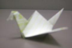 Origami bird (bamalibrarylady) Tags: art origami paperfolding