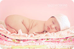 .all girl.  {explored} (*miss*leah*) Tags: pink flowers sleeping baby hat nikon blanket newborn heirloom curled bonnet wrinkles prettyinpink sleepinglikeababy d700 nikond700 leahhoskins