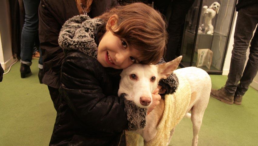 Una gran amante de los perros