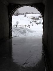 Frozen Tunnel (BlueRidgeKitties) Tags: winter snow ice landscape northcarolina tunnel february landschaft blueridgeparkway appalachianmountains westernnorthcarolina wataugacounty southernappalachians ccbyncsa moseshconememorialpark canonpowershotsx10is