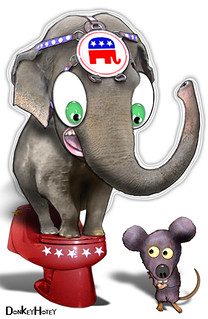 From flickr.com/photos/47422005@N04/4393343019/: Republican Elephant: watch out below!