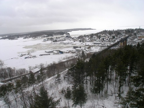 parry sound winter - fire tower view