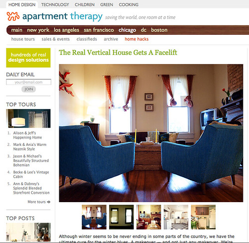 Apartment Therapy Feature!