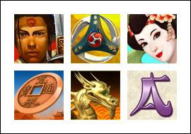 free Silent Samurai slot game symbols