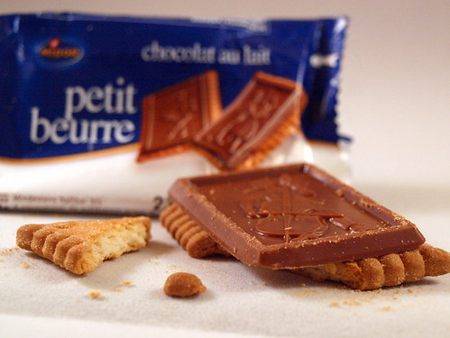 Petit beurre (chocolat au lait) - mit Packung
