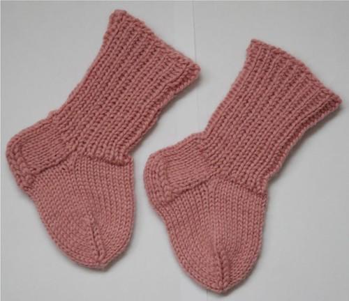 Vaaleanpunaiset vauvansukat