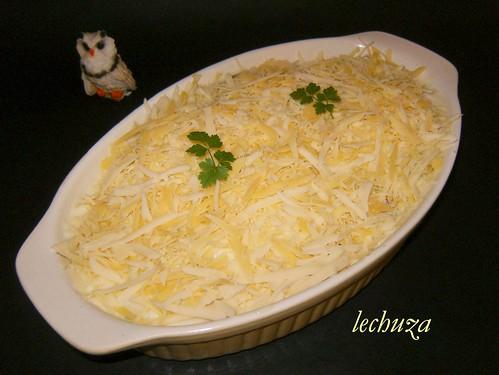 Gratinado de verduras-añadir queso .
