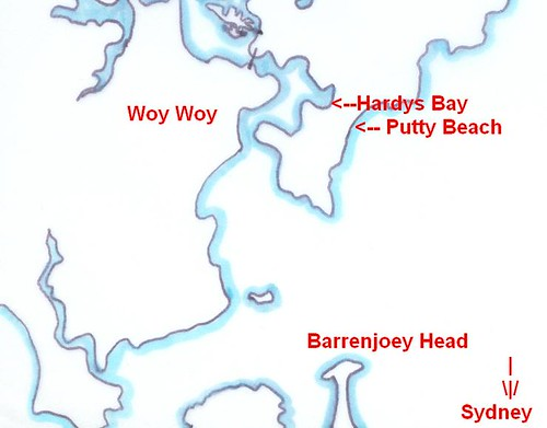 Putty Beach map