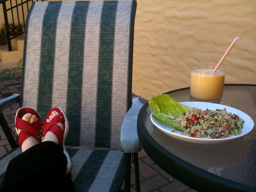 PIcnic lunch with my feet up