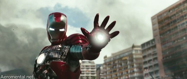 Iron Man 2 armor traje silver red