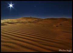 Moonlight Shadow ! (Bashar Shglila) Tags: shadow moon sahara stars star alone desert moonlight libya artofimages saariysqualitypictures bestcapturesaoi ☆thepowerofnow☆
