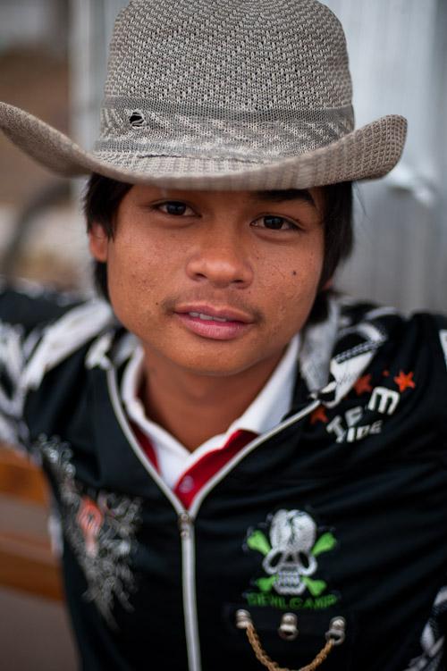 Boy near Pha That Luang, Vientiane, Laos