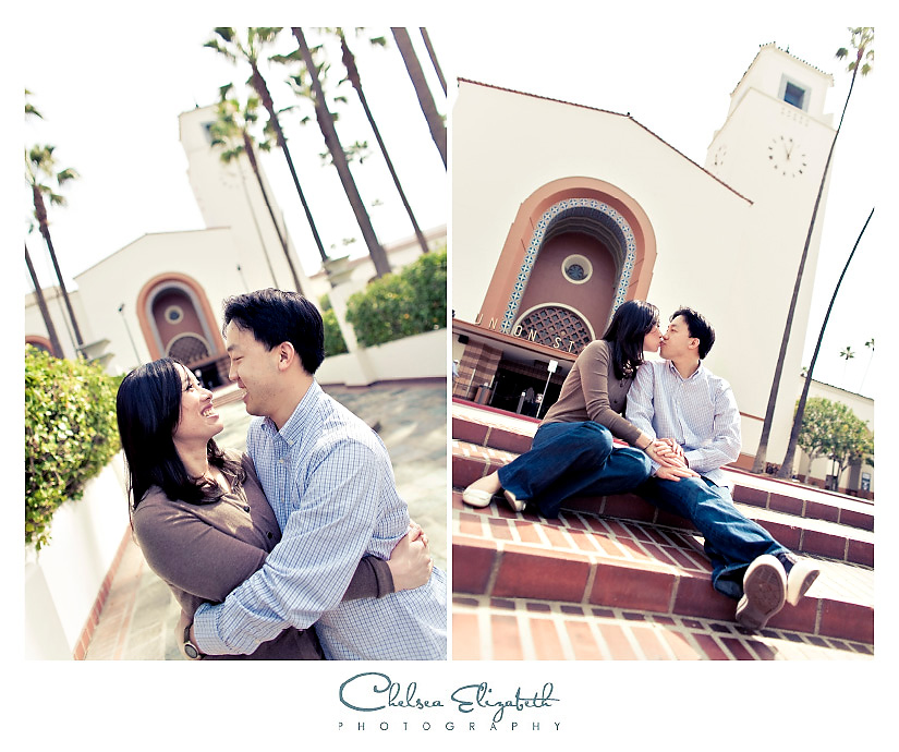 Union station los angeles engagement photography