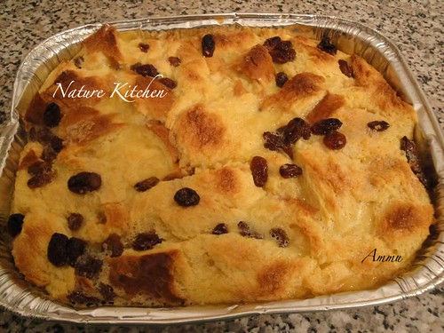 Butterscotch Bread pudding by Nature Kitchen