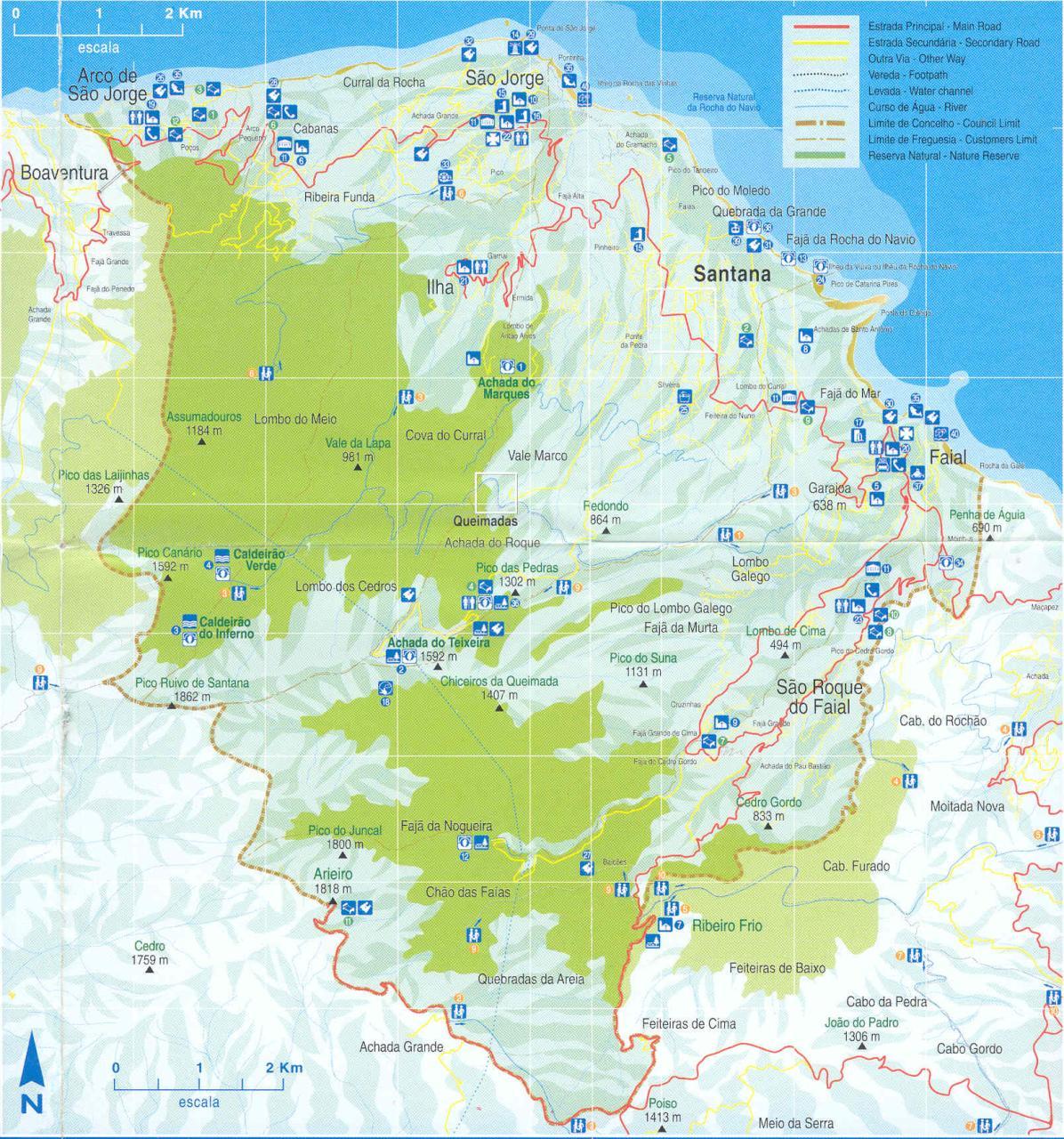 mapa santana