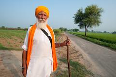 Punjabi Farmer (gurbir singh brar) Tags: road old man fields farmer turban sikh punjab veteran seasoned experienced oldhand gatra  sonofthesoil  gurbirsinghbrar