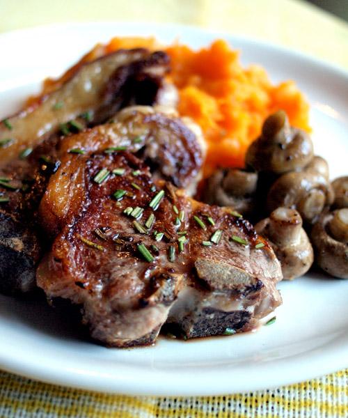 Rosemary Lamb Chops w/ pumpkin mash