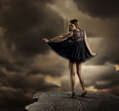 (Csheemoney) Tags: lighting sky girl fashion rock standing photoshop studio alone dress retouch beograd strobist nostrobistinfo csheezio cshee csheemoney nemanjapesic removedfromstrobistpool seerule2 velgrade