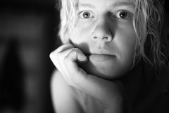 075 (lisbokt) Tags: portrait blackandwhite woman white selfportrait black lady self mouth project nose 50mm eyes focus dof hand autoportrait bokeh daily plasticfantastic outoffocus depthoffield blond eyebrow blonde stare 365 blondehair dailyphoto wethair selective shallowdof fantasticplastic f17 project365 niftyfifty
