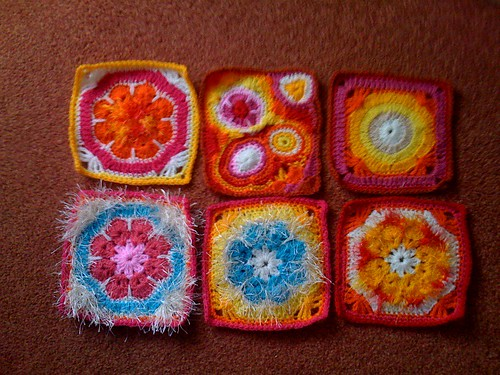 Pilar's Colourful Squares all the way from Spain! Thank you!