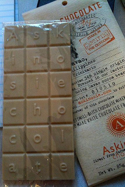 Askinosie White Chocolate Bar