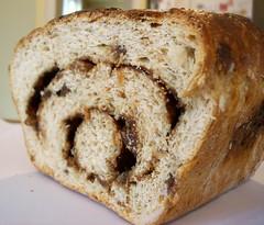Nutri - Rich Cinna - Swirl Raisin Bread: Cutaway