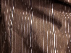 Brown and blue striped men's shirting
