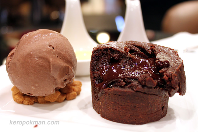 Dark Chocolate Lava Cake with Ice Cream
