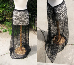long sheer lace skirt -diy-8