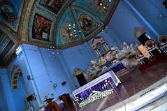 Our Lady of the Assumption (Lemuel Montejo) Tags: church colors nikon shrine dof tokina1224 ceiling bohol hdr decorated dauis d90 nikond90 boholano emwing emwingmontejo lemuelmontejo ourladyoftheassumptionshrine