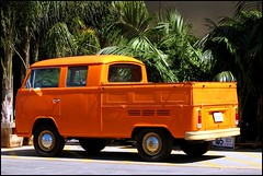 I Have Always Wanted One Of These (greenthumb_38) Tags: orange bus yellow vw volkswagen pickup combi kombi type2 brightorange doublecab jeffreybass