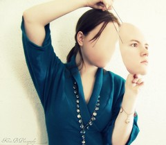 Day 303: My Identity (KatB Photography) Tags: blue selfportrait art face hair weird necklace mask artistic edited photoshopped id gimp surreal jewelry identity blank bracelet noface 365 jewlery blueshirt facemask 303 day303 hairstrands blankface project365 erasemyface erasedface