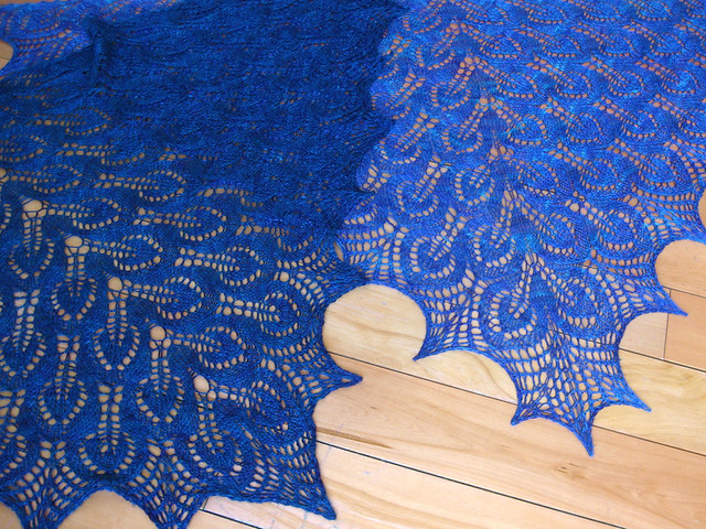 Nightsongs Shawl - old and new